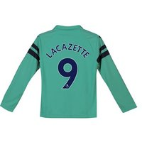 Arsenal Third Shirt 2018-19 - Kids - Long Sleeve with Lacazette 9 printing