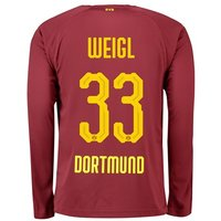 BVB BVB Third Shirt 2018-19 with Weigl 33 printing