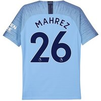 Manchester City Home Vapor Match Shirt 2018-19 - Kids with Mahrez 26 printing