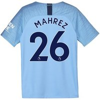 Manchester City Home Stadium Shirt 2018-19 - Kids with Mahrez 26 printing