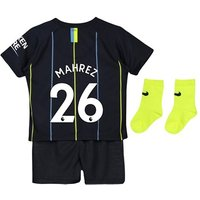 Manchester City Away Stadium Kit 2018-19 - Infants with Mahrez 26 printing