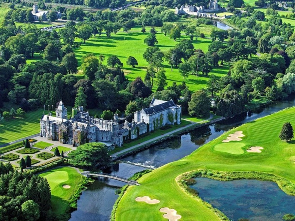 Private Jet to Adare Manor, Ireland, 1-night stay.
