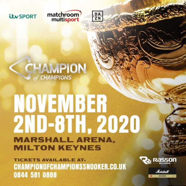 Champion of champions snooker 2020